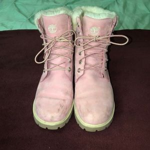 Timberlands pink boots